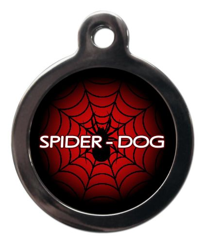 Pet ID Tag Spiderman logo web with spider - SPIDER-DOG